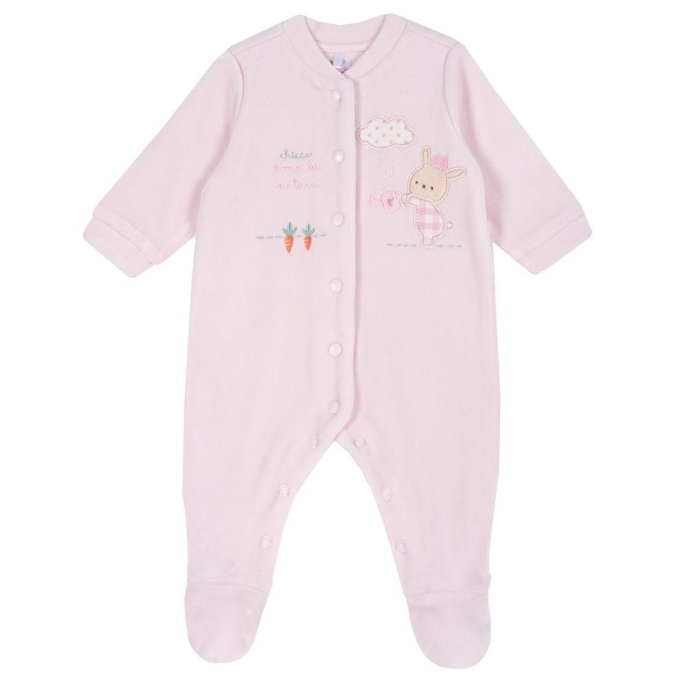 Комбинезон велюровый Chicco Baby rabbit, арт. 090.02036.011, цвет Розовый
