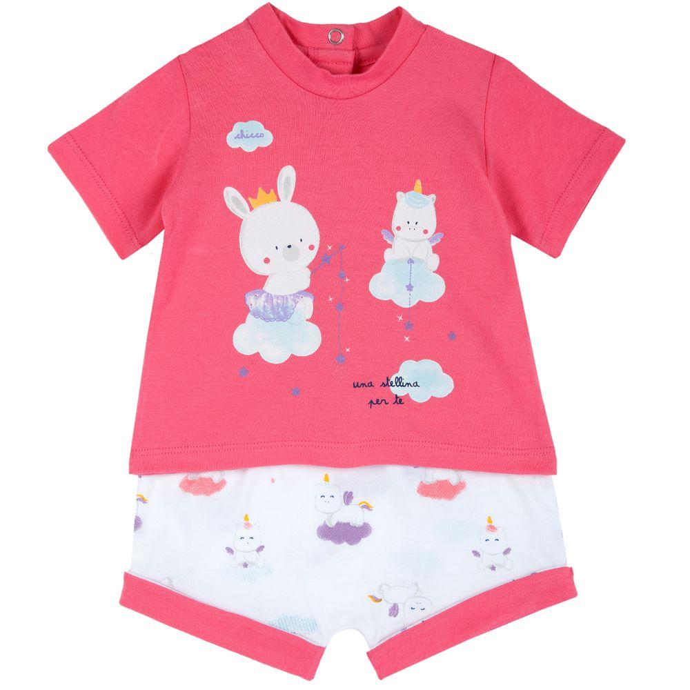 Костюм Chicco Magic party: футболка и шорты, арт. 090.76498.015, цвет Розовый