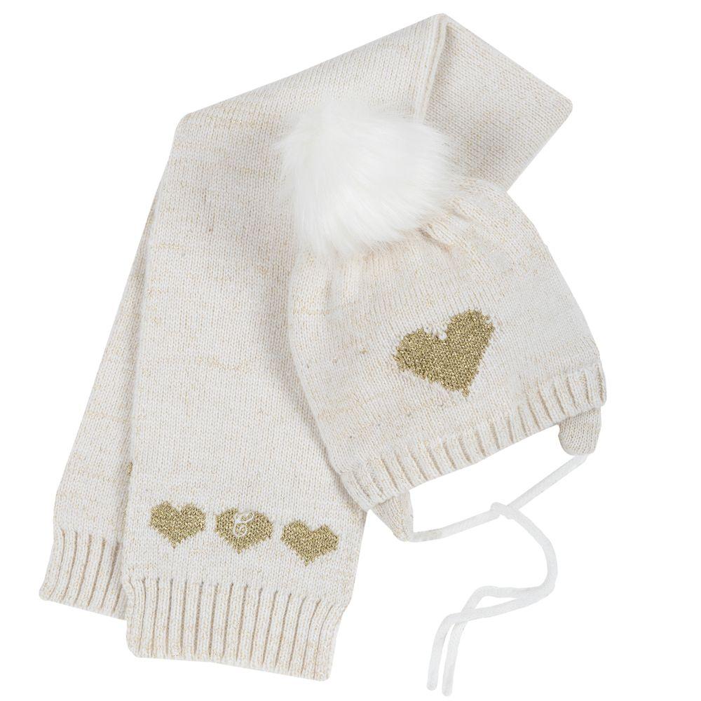 Комплект Chicco Happy princess: шапка и шарф , арт. 090.04224.030, цвет Белый