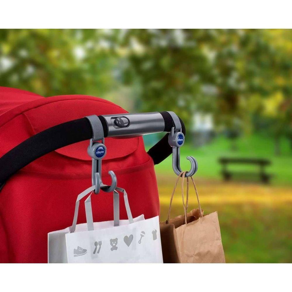Крючки Chicco для крепления сумки на коляску, арт. 79813, цвет Серый
