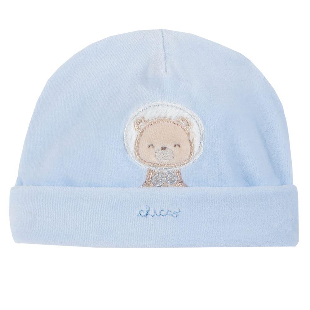 Шапка велюровая Chicco Polar bear, арт. 090.04683.021, цвет Голубой