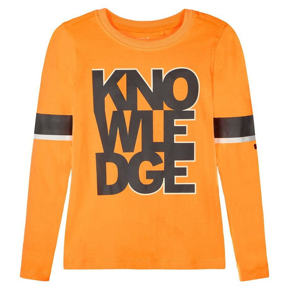 Реглан Name it Knowledge, арт. 203.13181147.OPOP, цвет Оранжевый