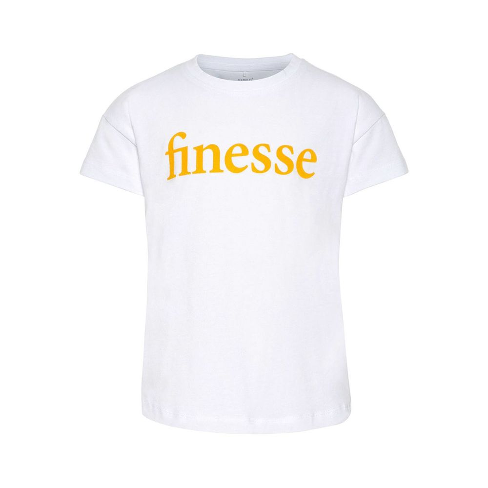 Футболка Name it Finesse (белая), арт. 13165126.BWHI, цвет Белый