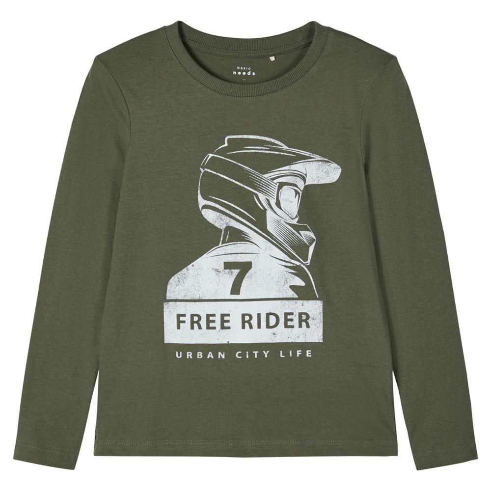 Реглан Name it Free rider, арт. 203.13179179.THYM, цвет Оливковый