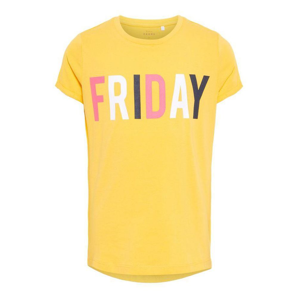 Футболка Name it Friday, арт. 13161618.PMAR, цвет Желтый