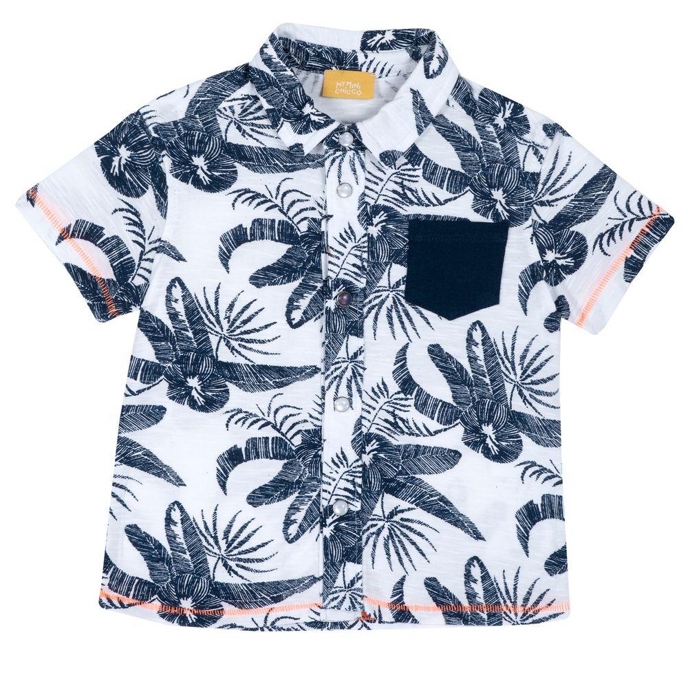 Рубашка Chicco Sea secrets, арт. 090.66539.033, цвет Синий с белым