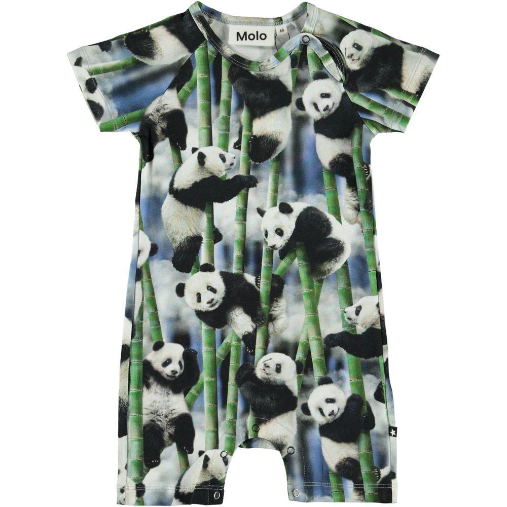 Полукомбинезон Molo Felton Panda, арт. 3S20B402.6051, цвет Черно-белый