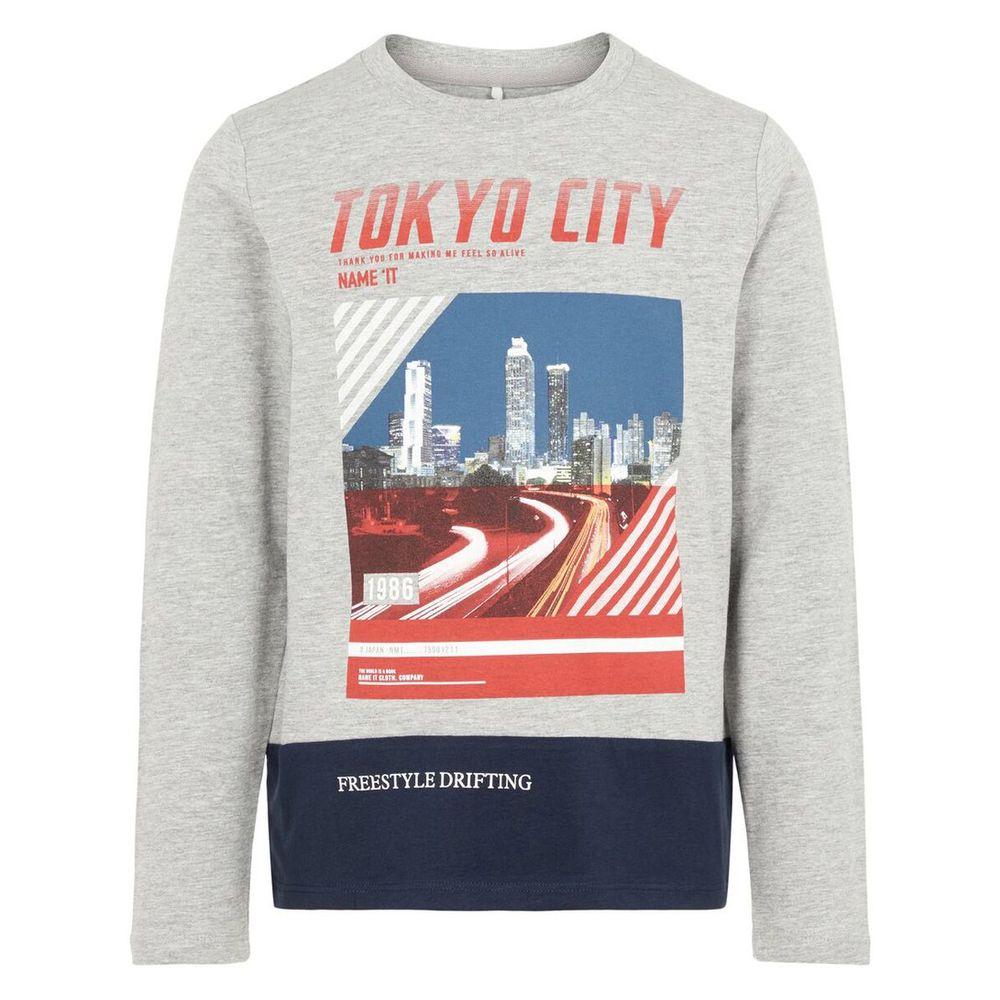 Реглан Name it Tokyo city, арт. 193.13168462.GMEL, цвет Серый