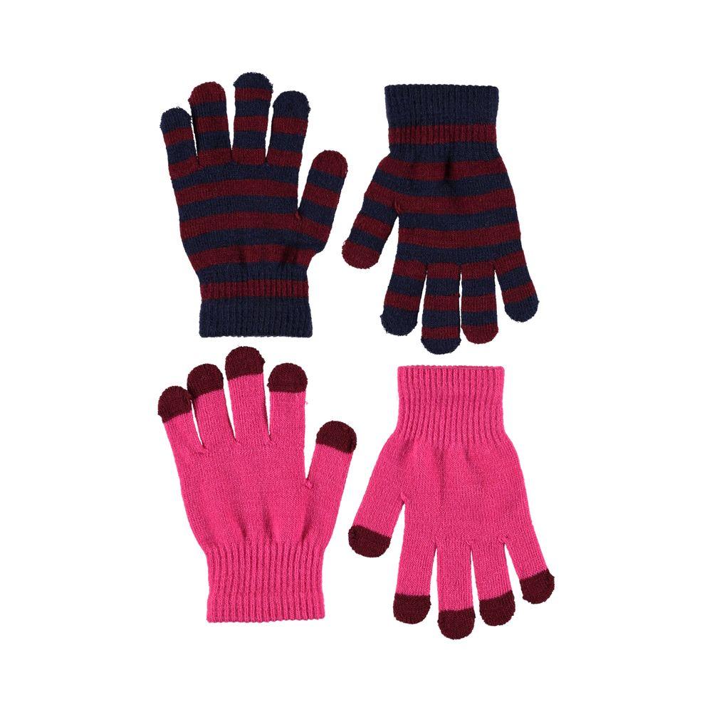 Перчатки Molo Kei Disco Pink (2 пары), арт. 7W19S203.8001, цвет Красный с синим