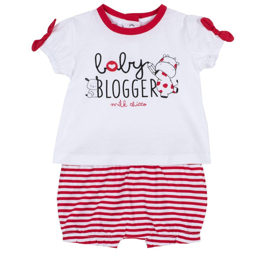 Костюм Chicco Maja: футболка и шорты , арт. 090.76365.073, цвет Красный