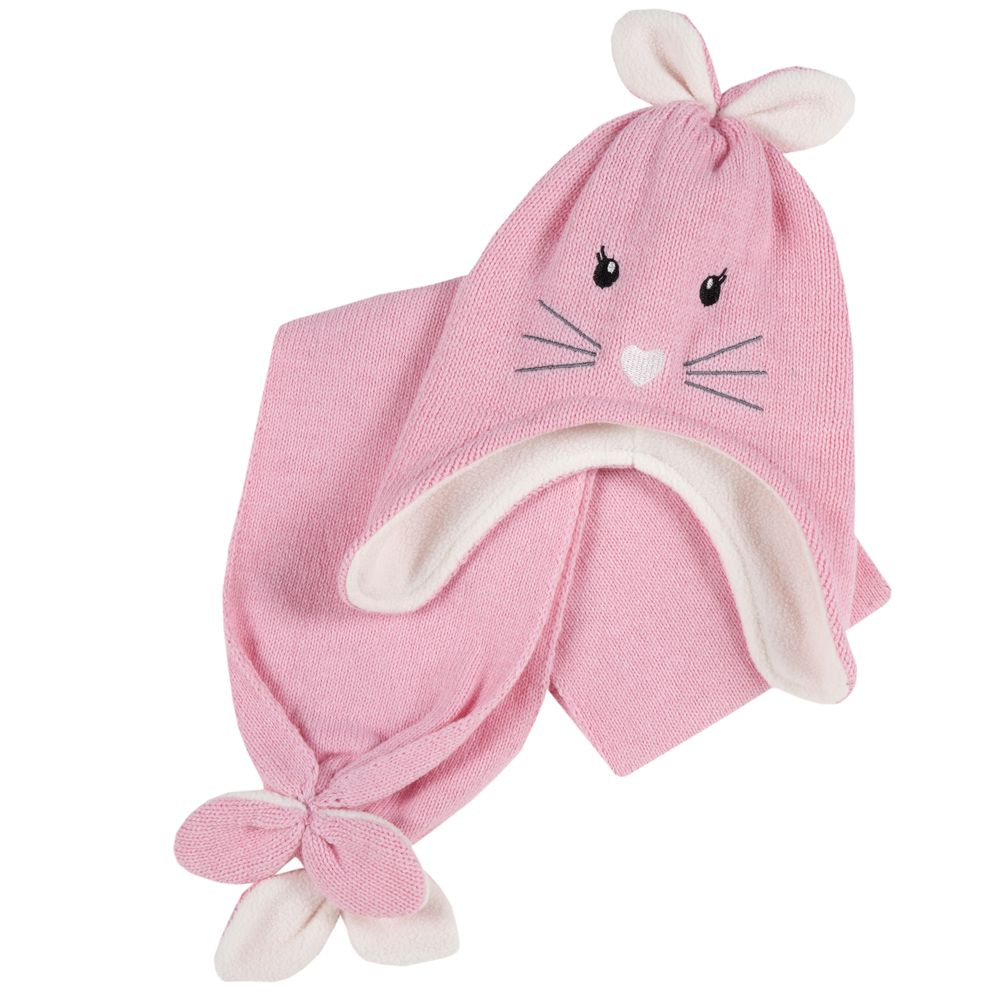 Комплект Chicco Rabbit: шапка и шарф , арт. 090.04721.011, цвет Розовый