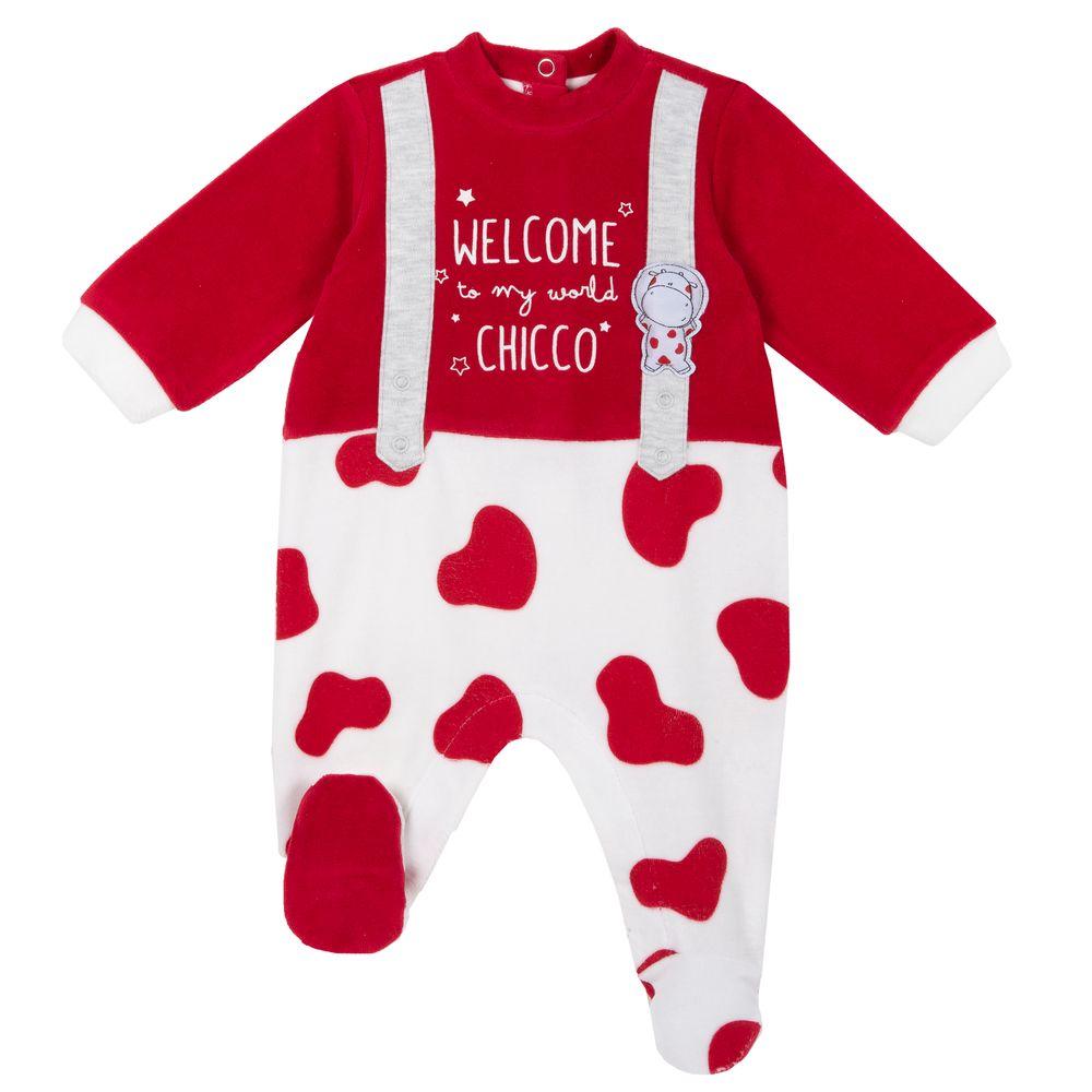 Комбинезон велюровый Chicco Welcome to my world, арт. 090.21572.037, цвет Красный