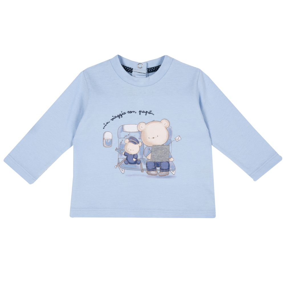 Реглан Chicco Sweet bear blue, арт. 090.47488.021, цвет Голубой