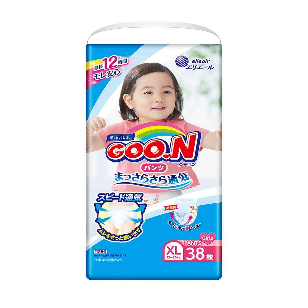 Подгузники-трусики Goo.N для девочки, размер XL, 12-20 кг,  38 шт , арт. 843099