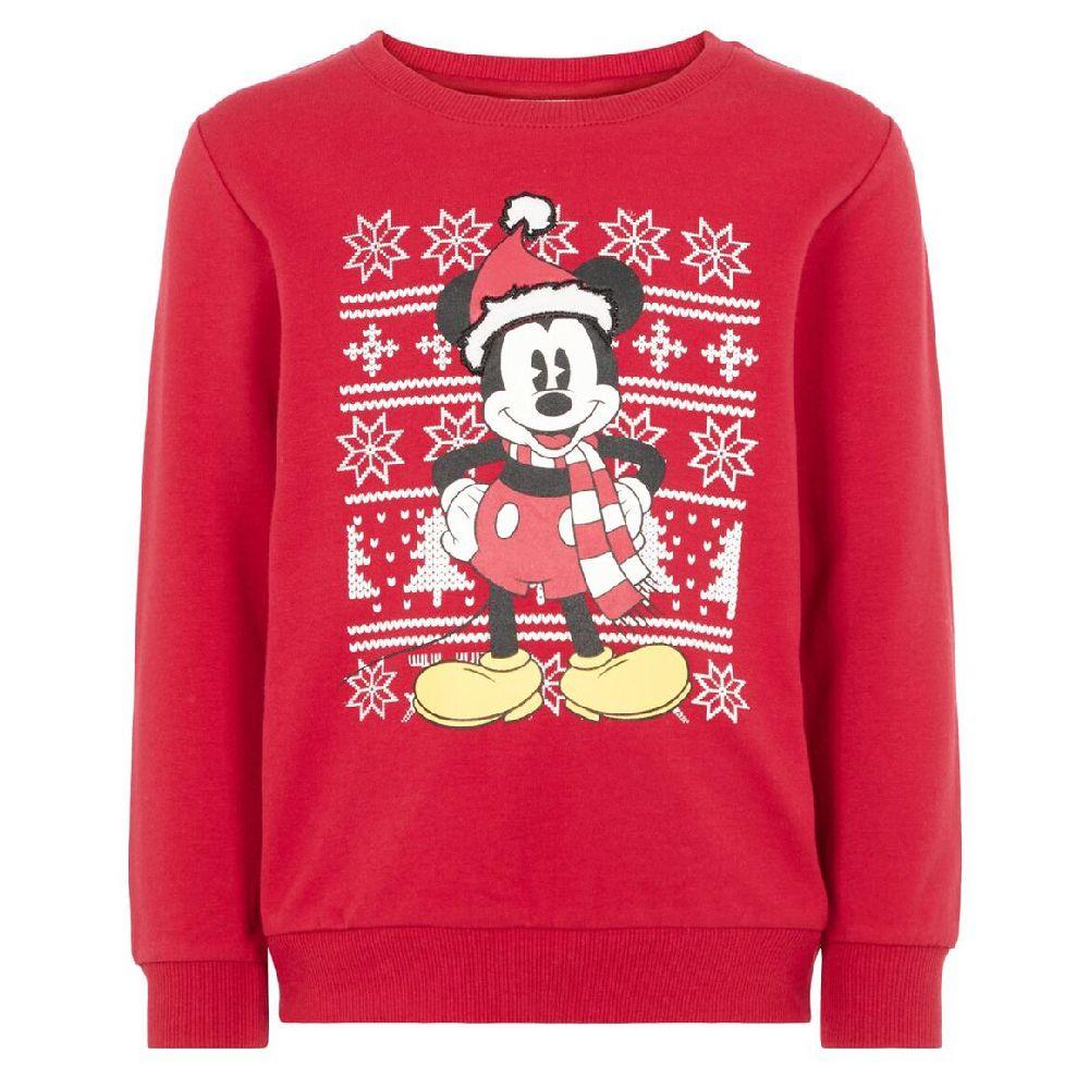 Джемпер Name it Christmas Mickey, арт. 193.13174596.JRED, цвет Красный