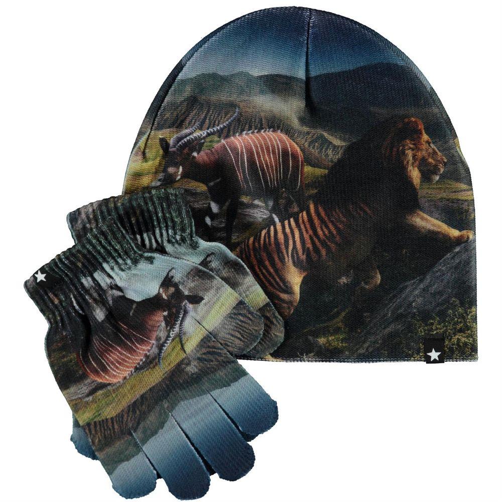 Комплект Molo Kaya Creation: шапка и перчатки, арт. 7W20S903.7261, цвет Синий