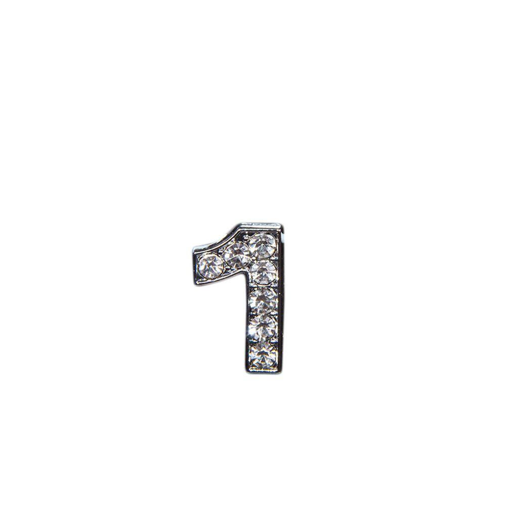 "Эмодзи Tinto ""Цифра 1"" , арт. NM00914, цвет Серебряный"