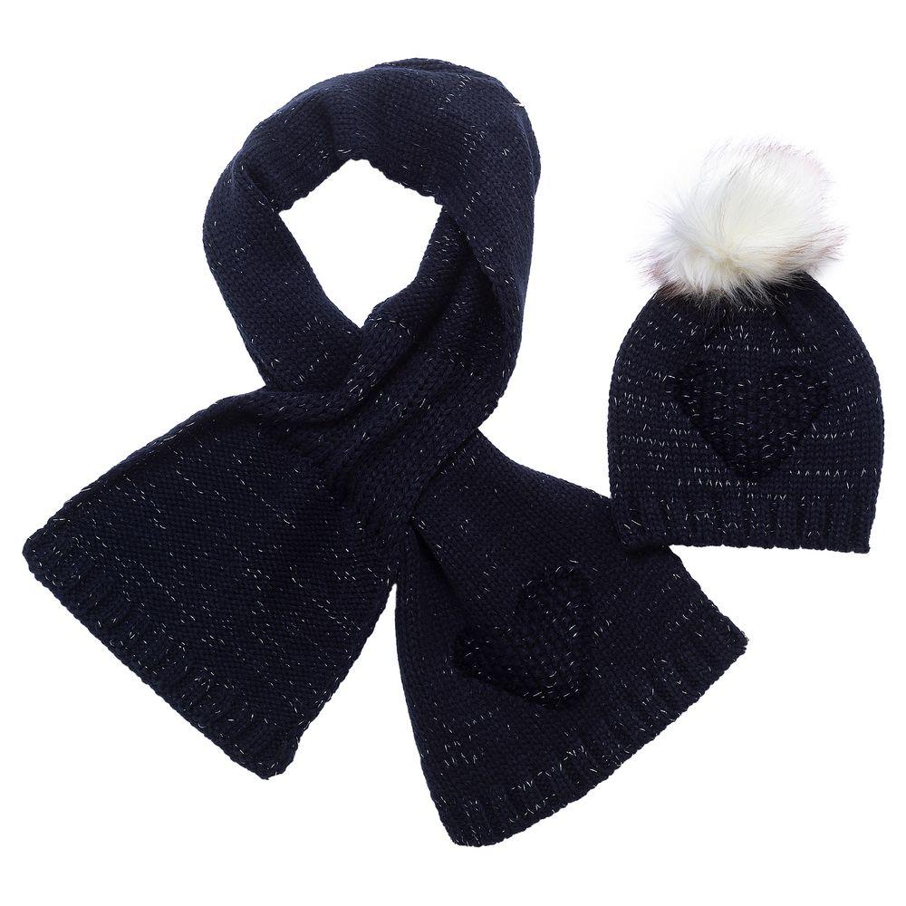 Комплект Chicco Stella: шапка и шарф , арт. 090.04553.088, цвет Синий