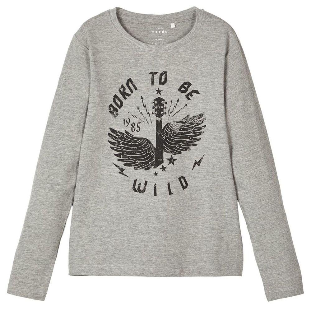 Реглан Name it Born to be wild, арт. 203.13171449.GMEL, цвет Серый