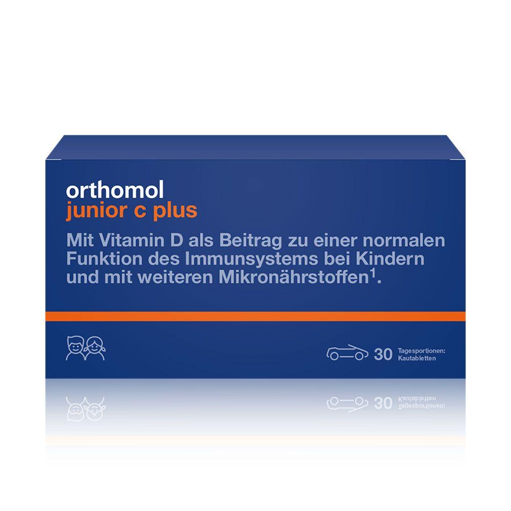 """Витамины для детей Orthomol """"Junior C plus"""", 30 дней, жевательные табл. orange, арт. 10013630"""