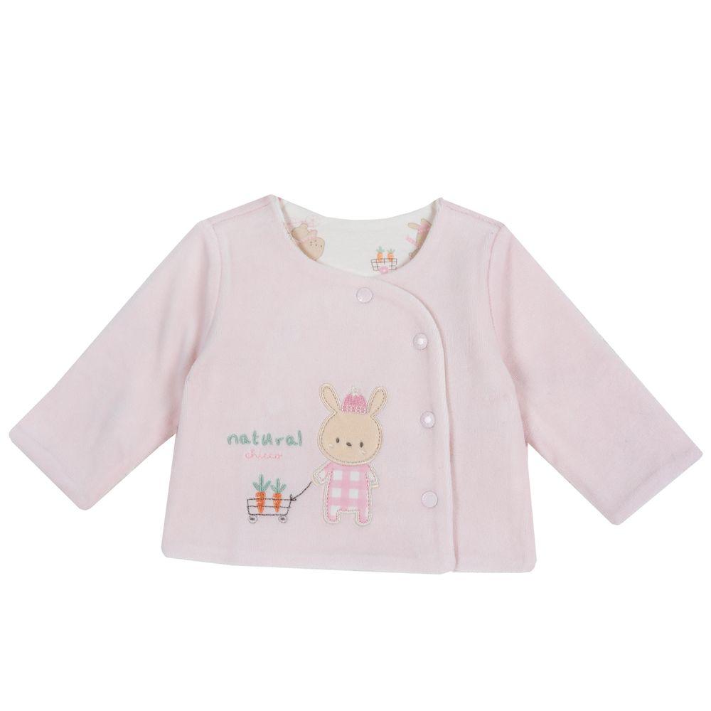 Рубашка двусторонняя Chicco Rabbit, арт. 090.96759.011, цвет Розовый