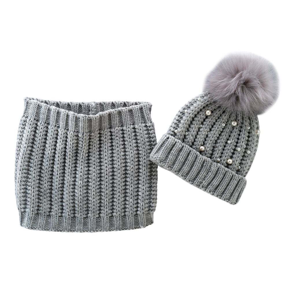 Комплект Chicco Snow grey: шапка и шарф, арт. 090.04746.095, цвет Серый