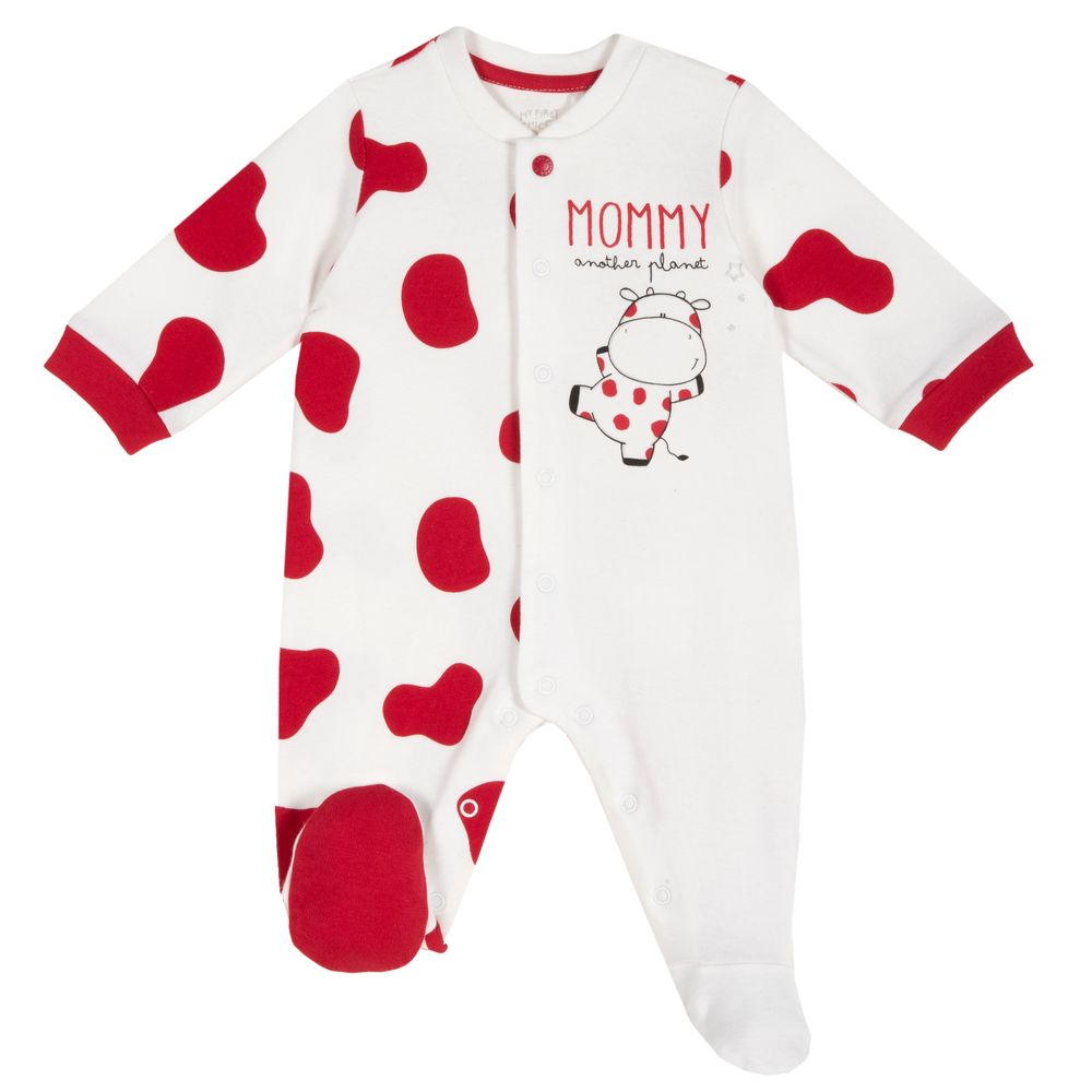 Комбинезон Chicco Planet Mommy, арт. 090.21574.037, цвет Белый с красным