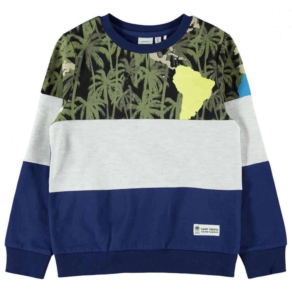 Джемпер Name it Sun&Palm trees, арт. 203.13176288.BLUE, цвет Синий