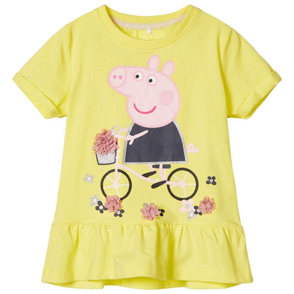 Футболка Name it Peppa Pig Alina, арт. 201.13180214.LIME, цвет Желтый