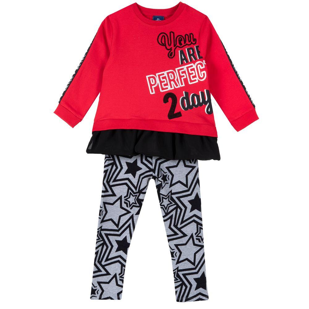 Костюм Chicco Perfect: джемпер и брюки, арт. 090.78713.096, цвет Красный
