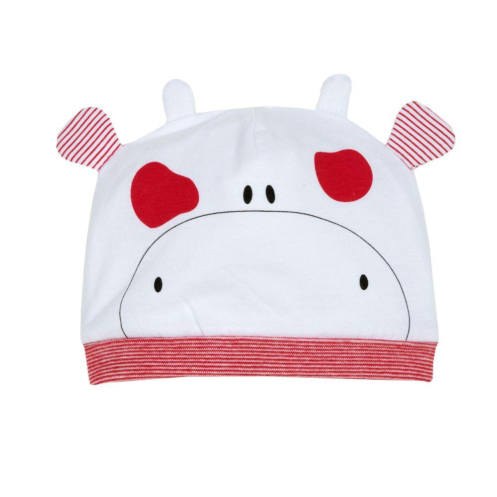 Шапка Chicco Milk & Puppy, арт. 090.04380.033, цвет Красный с белым