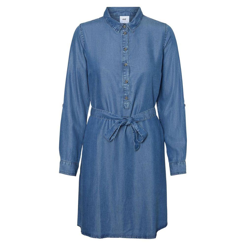 Платье для беременных Mamalicious Denim, арт. 201.20010180.DBLU, цвет Синий