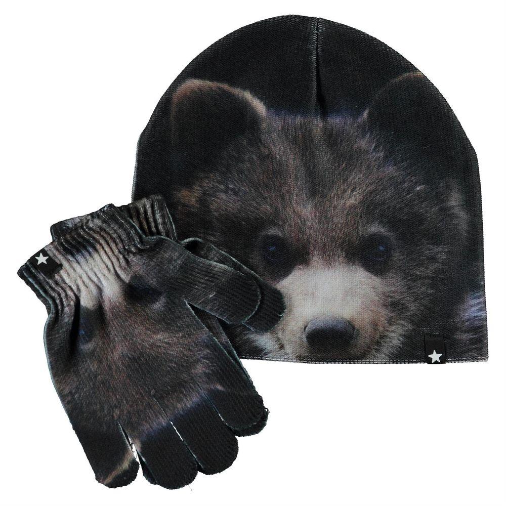 Комплект Molo Kaya Teddy: шапка и перчатки, арт. 7W20S903.7263, цвет Черный