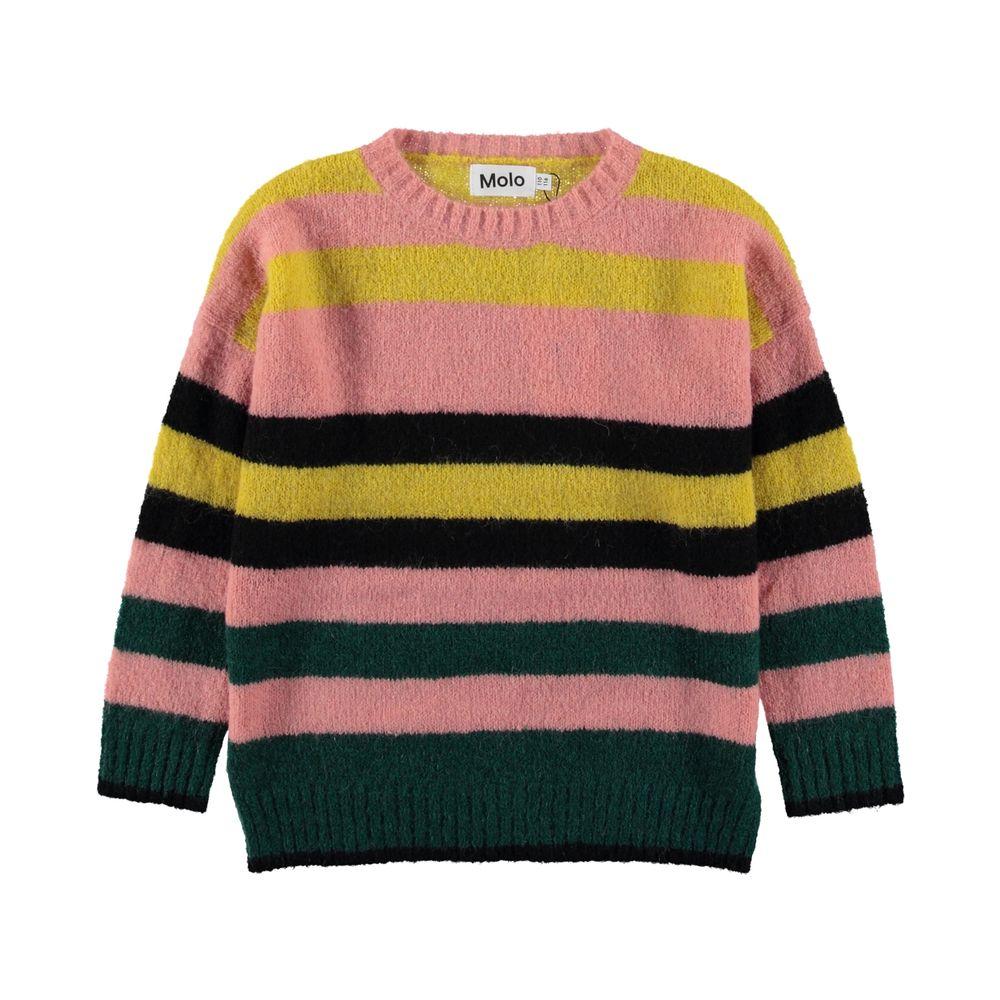 Джемпер Molo Geneen Iregular Stripe, арт. 2W19K205.4894, цвет Розовый