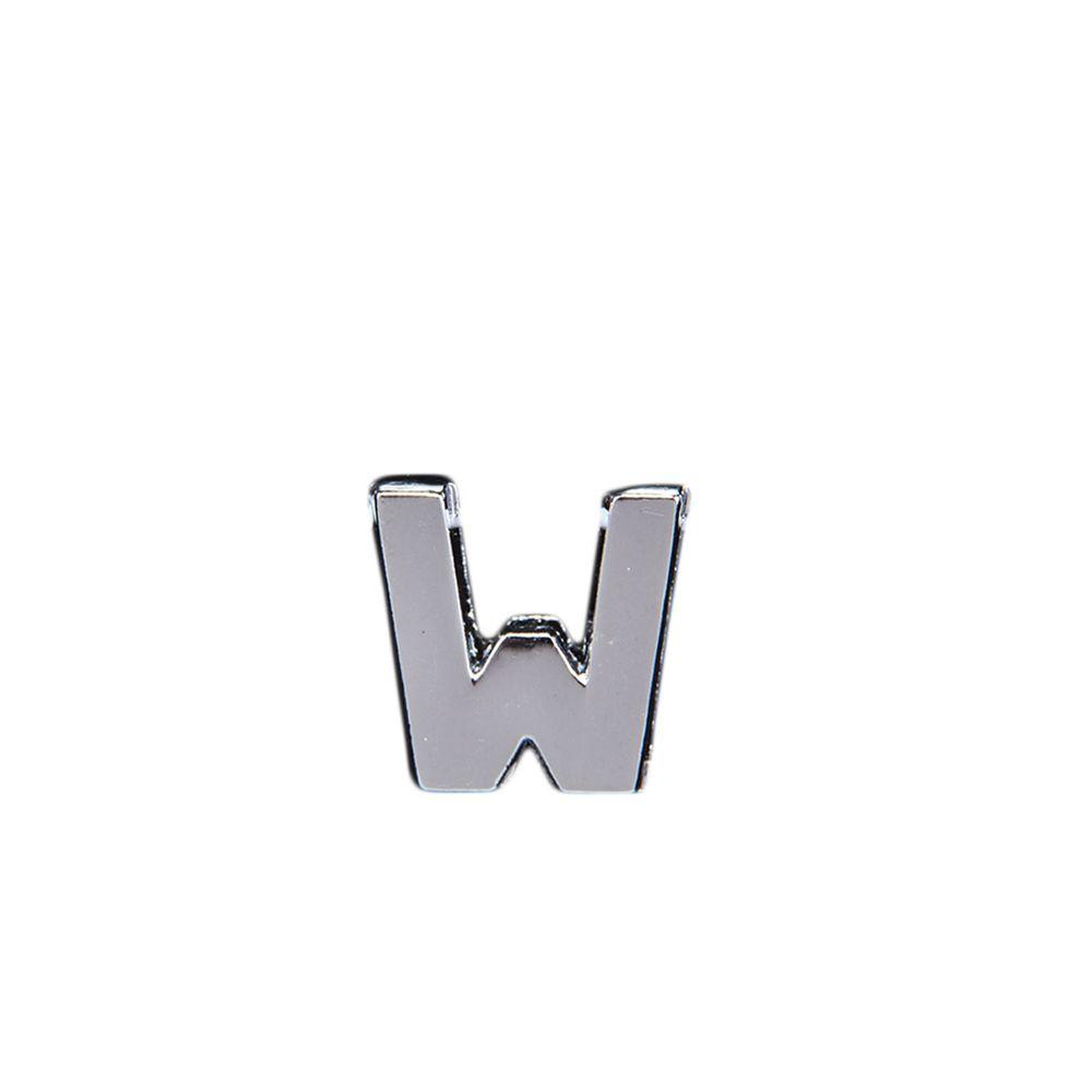 "Эмодзи Tinto ""Буква W"", арт. GMLT00933, цвет Серебряный"