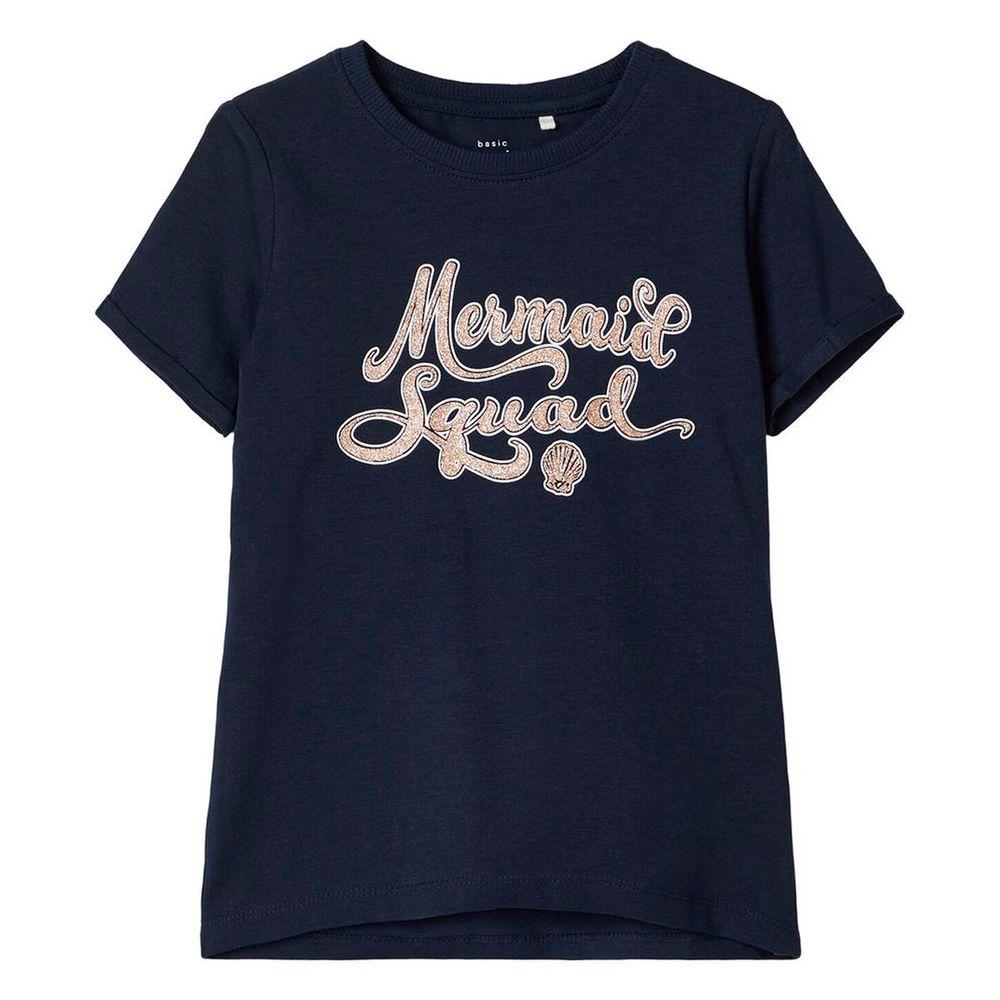 Футболка Name it Mermaid squad, арт. 201.13173824.DSAP, цвет Синий
