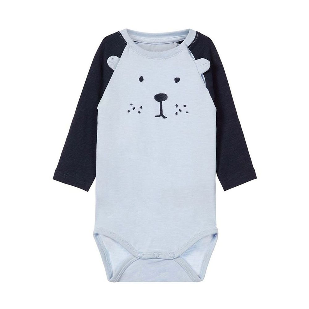 Боди Name it Teddy bear (синий), арт. 13163203.SKYW, цвет Голубой