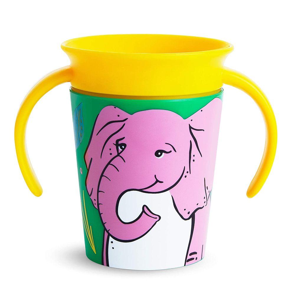 "Чашка непроливная Munchkin ""Miracle 360 WildLove"", 177 мл, арт. 0517, цвет Желтый"
