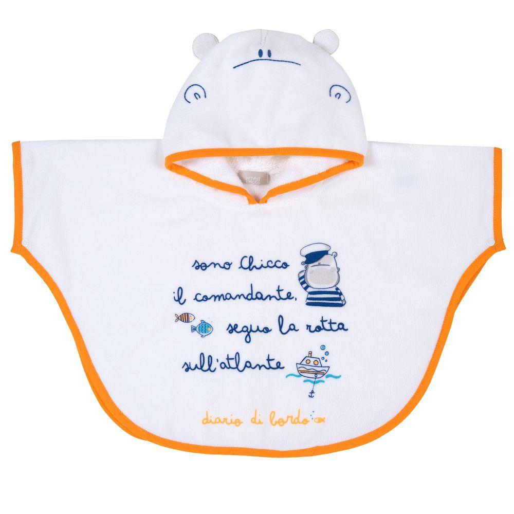 Полотенце-пончо Chicco Capitan, арт. 090.40642.033, цвет Белый