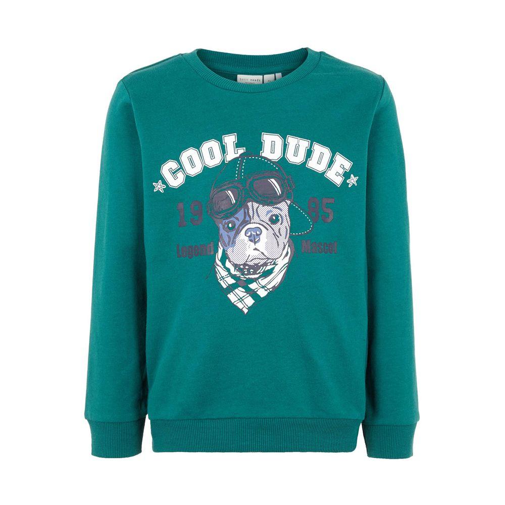 Джемпер Name it Cool dude, арт. 193.13166337.BAYB, цвет Зеленый