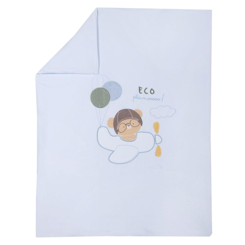 Одеяло Chicco Eco plane, арт. 090.05140.021, цвет Голубой