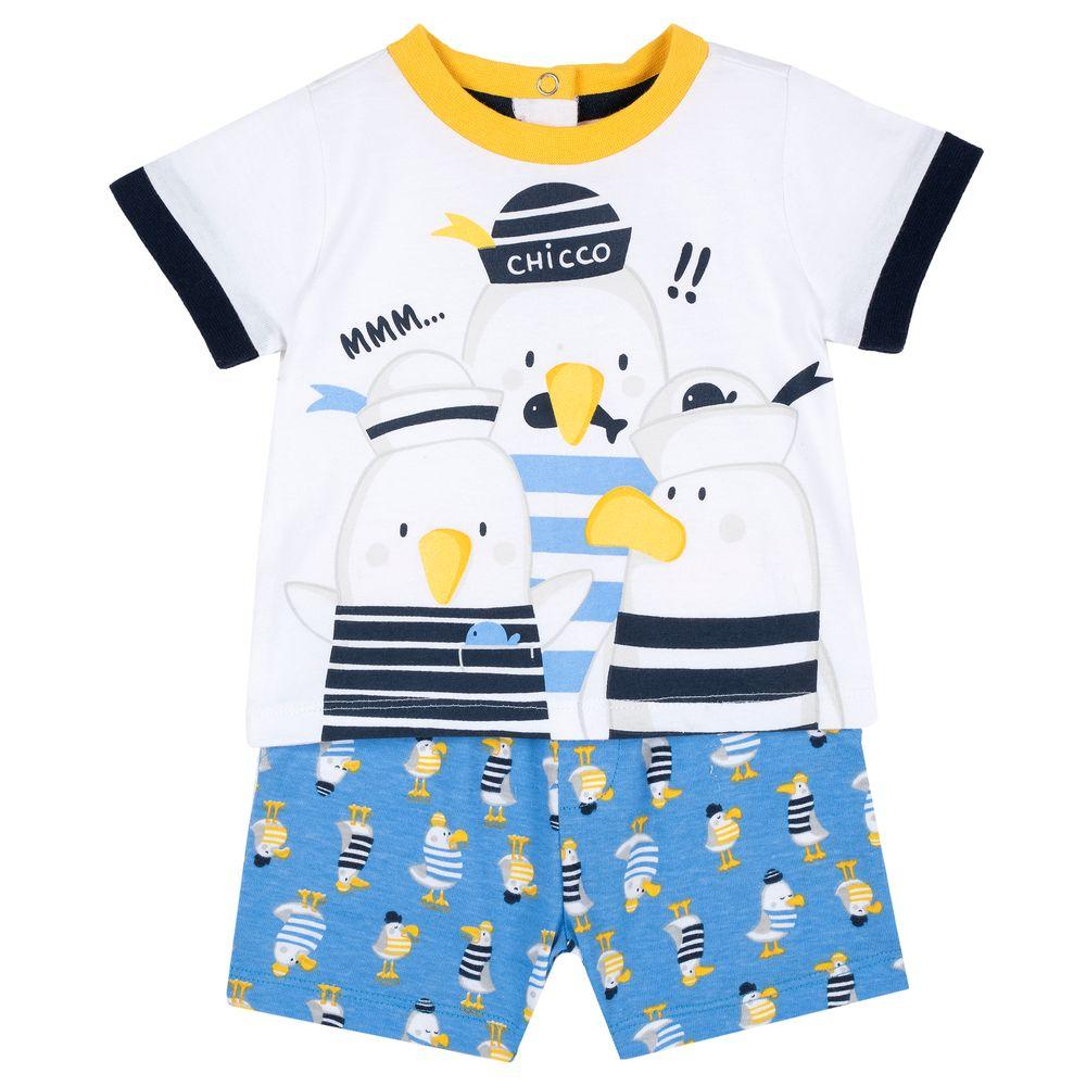 Костюм Chicco Sea legend: футболка и шорты, арт. 090.76377.026, цвет Голубой с белым