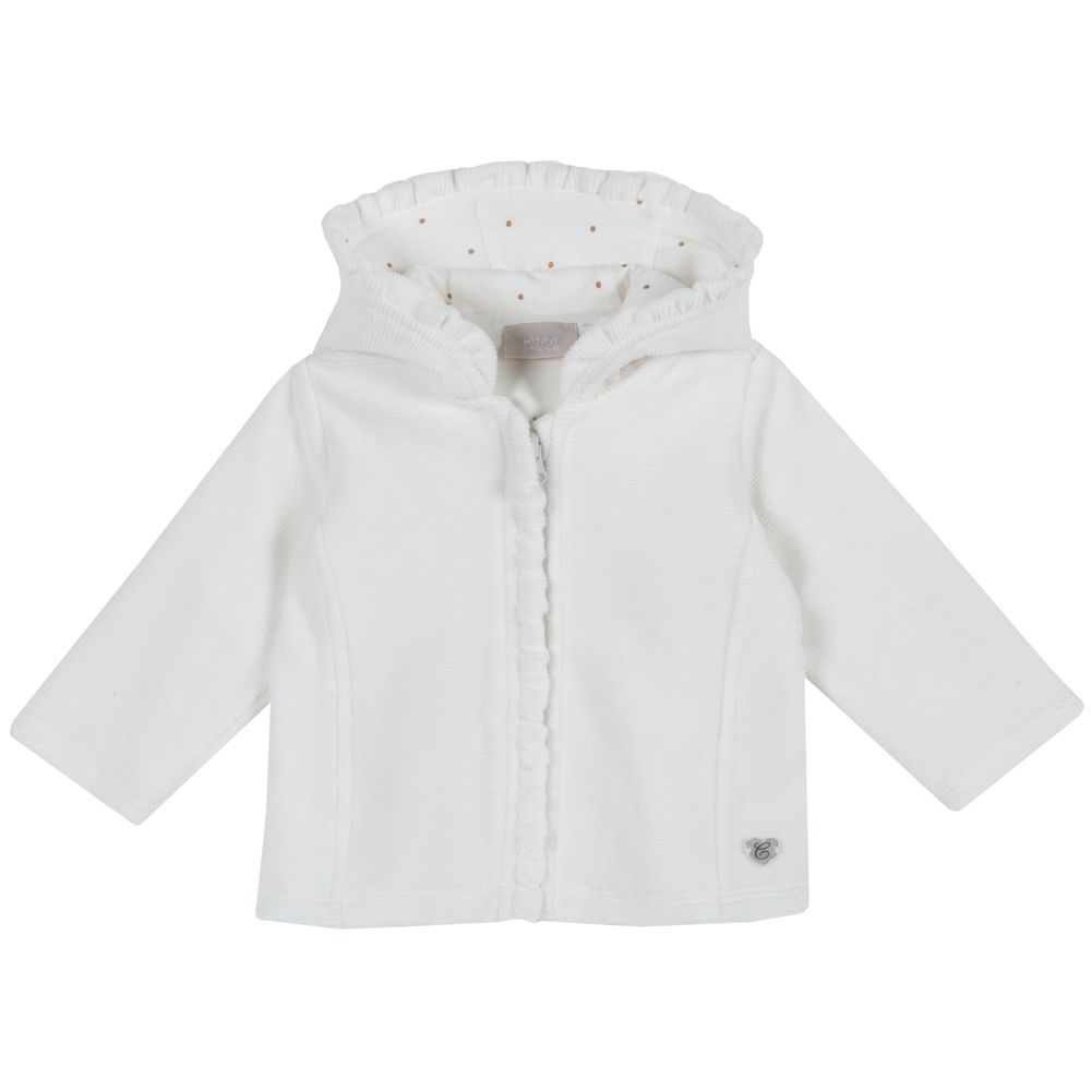Кардиган велюровый Chicco Happy fairy, арт. 090.96363.030, цвет Белый