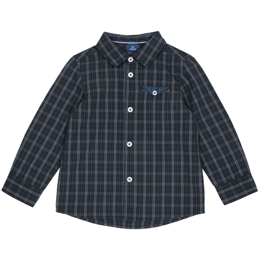 Рубашка Chicco Vintage club, арт. 090.54509.058, цвет Зеленый