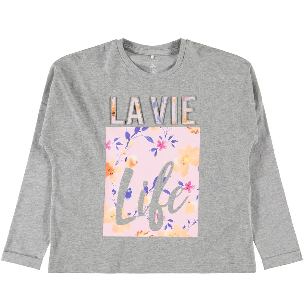 Реглан Name it La vie, арт. 193.13169377.GMEL, цвет Серый
