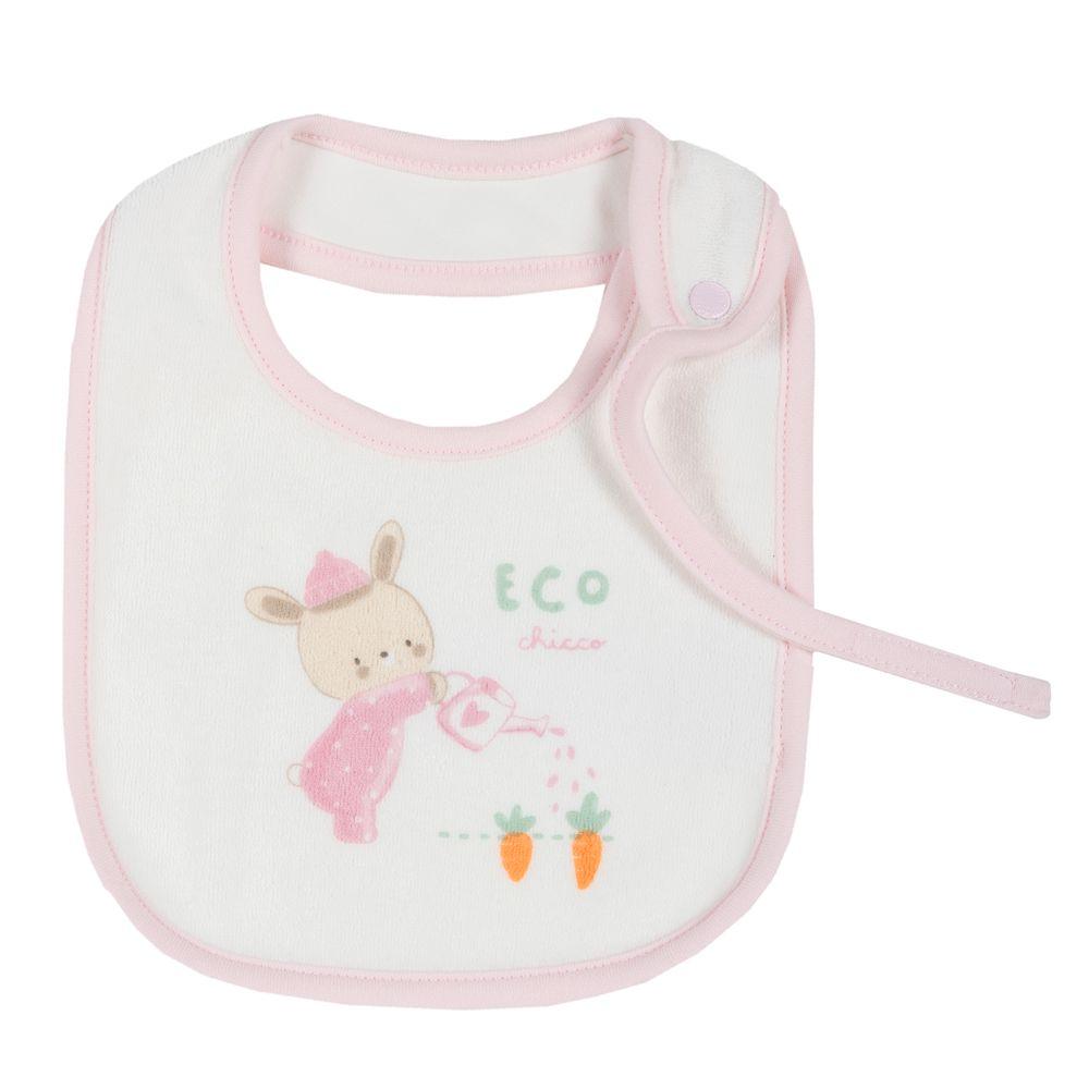 Слюнявчик Chicco Rabbit, арт. 090.32660.011, цвет Розовый