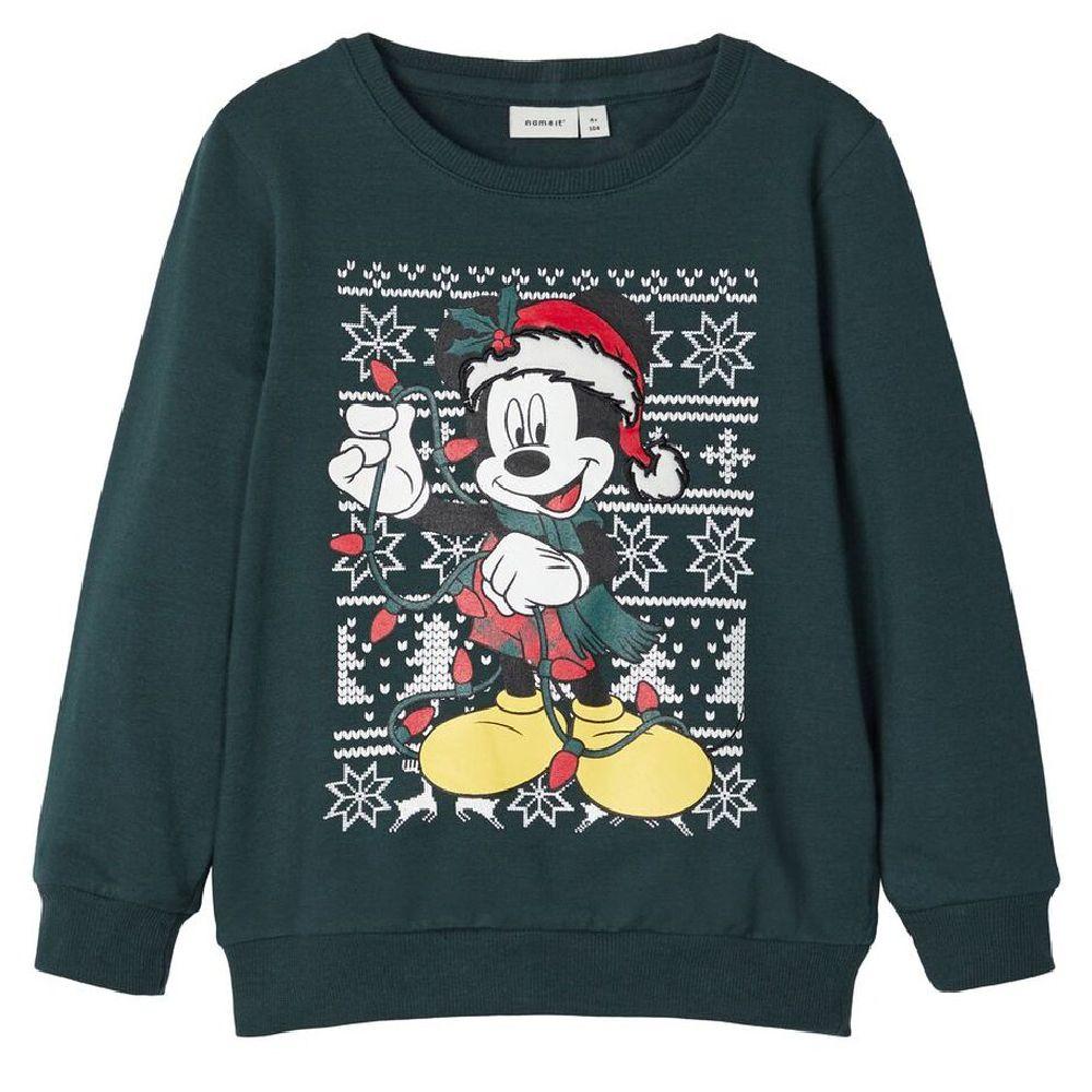 Джемпер Name it Christmas Mickey (зеленый), арт. 193.13174596.GGAB, цвет Зеленый