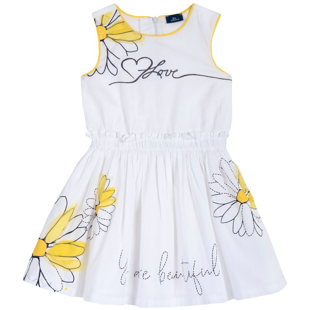 Платье Chicco Beautiful girl, арт. 090.03694.033, цвет Белый