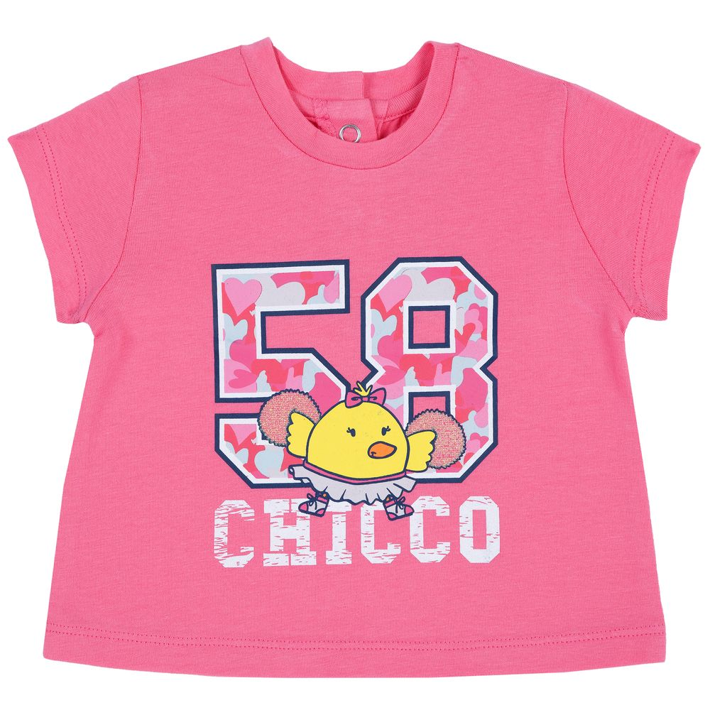 Футболка Chicco Cheerleader , арт. 090.06955.015, цвет Розовый