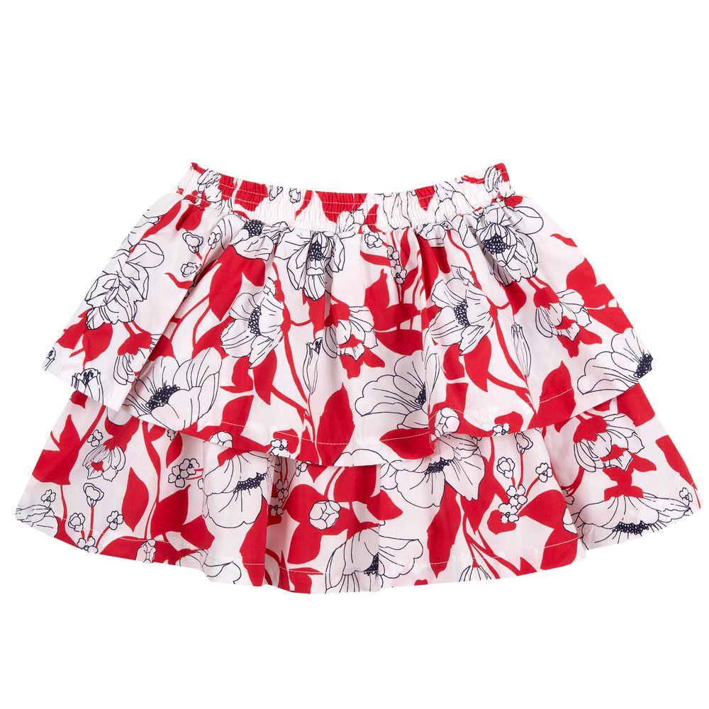 Юбка Chicco Fantastic flowers, арт. 090.34521.037, цвет Красный с белым